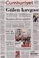Cumhuriyet gazetesinin birinci sayfası