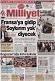 Milliyet gazetesinin birinci sayfası